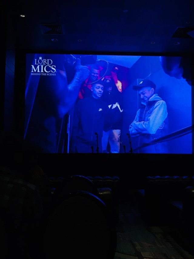 Exclusive screening lord of the mics at the curtain hotel