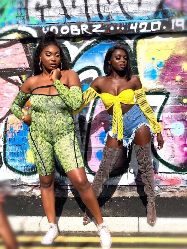 Shay La Rose and Lamie LDN on the set of  the mission video