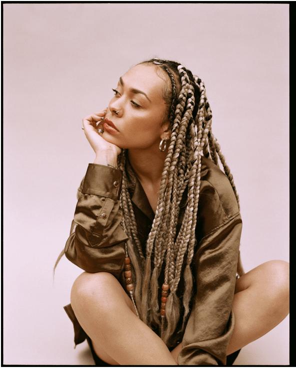 IYAMAH in blonde braids, releasing new neo soul single cake