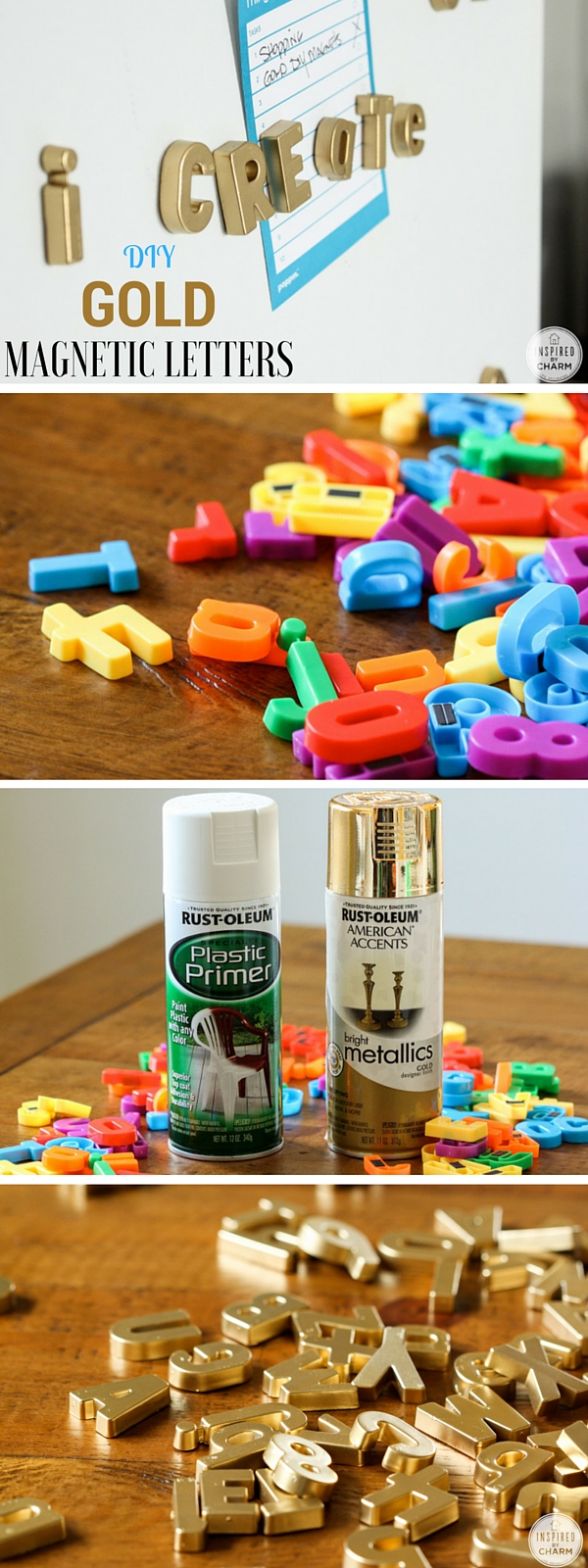 Check out the tutorial: #DIY Gold Magnetic Letters @istandarddesign