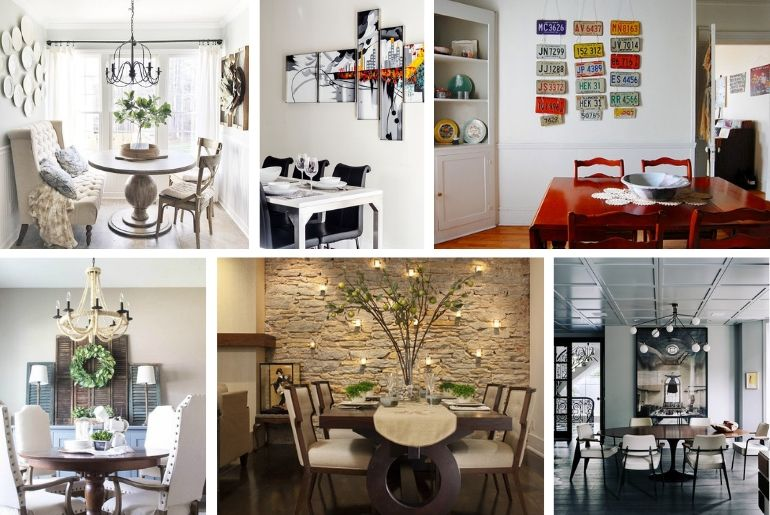 20 Creative Dining Room Wall Decor Ideas You'll Want to ... on Wall Decoration Ideas At Home  id=68521