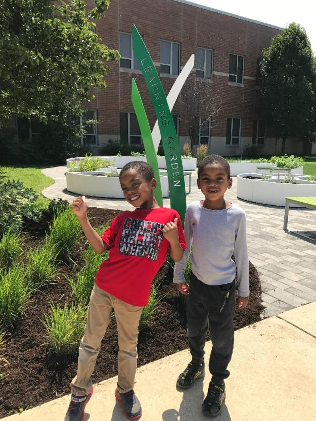 Learning garden at Wendell Phillips School #63