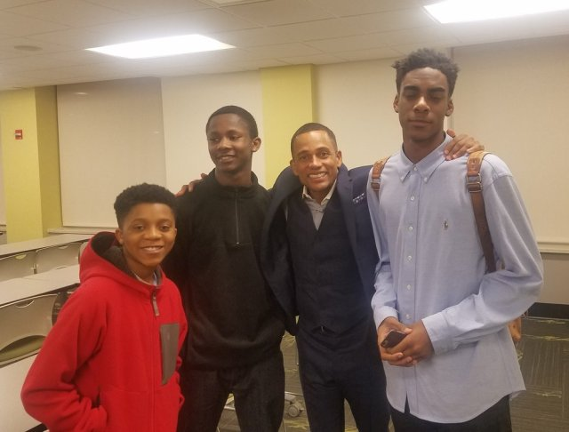 Hill Harper with EMCC Youth