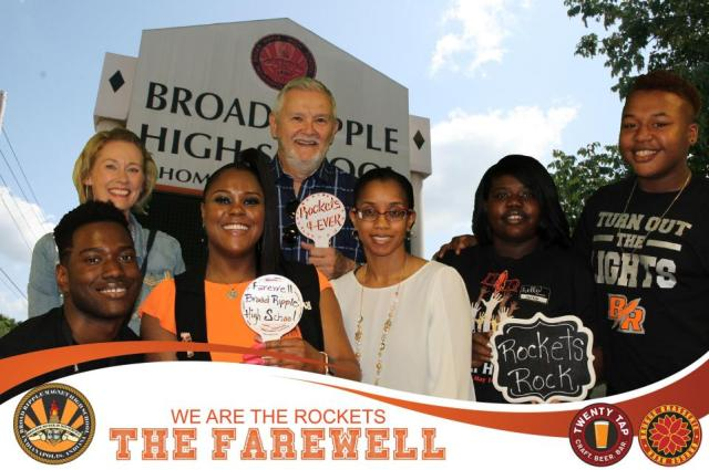 Front row - BR student Chris Bishop, BR alumna and English teacher Nikia Garland, community member Shawnta Barnes, BR student Jashell McClenton, BR student Sterling Smith.  Back Row - community member Kate Shoup, former BR English teacher Herb Budden.