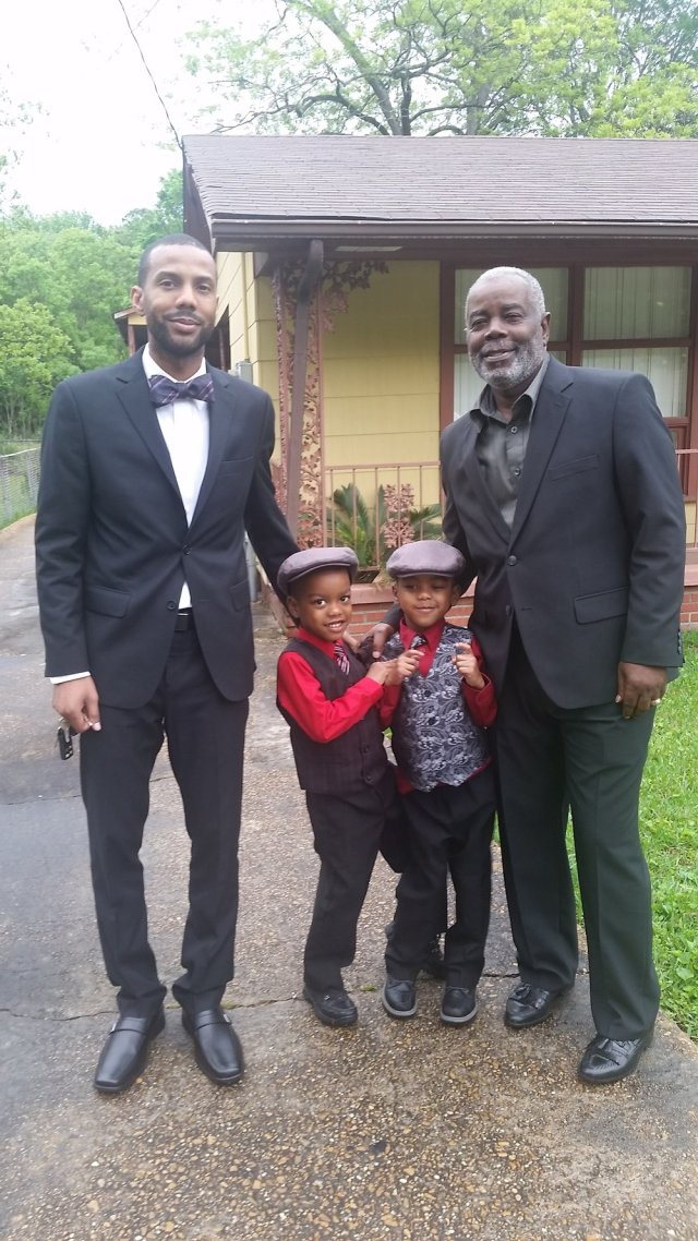 Three generations - (left to right) Jermaine Barnes, JJ, JB, and James Barnes