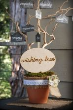 I love this idea for a family tree - each member could make their own little sign