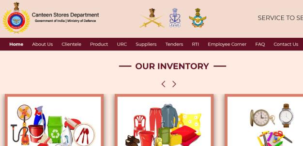 CSD Canteen Appintment Online