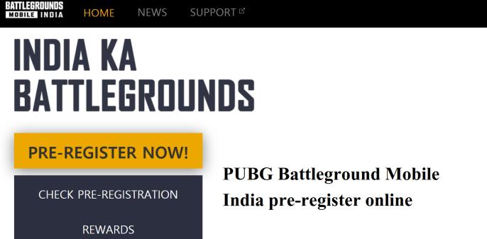 PUBG Pre Registration official link