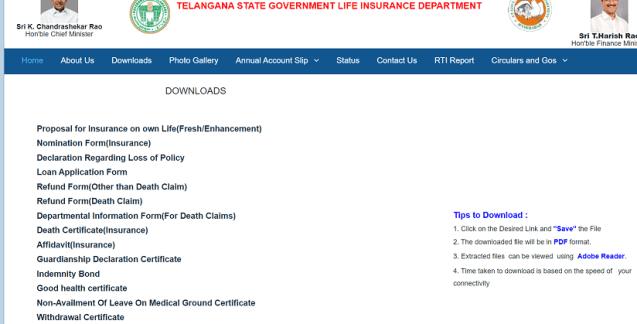 TSGLI Application Form 2021 pdf Download