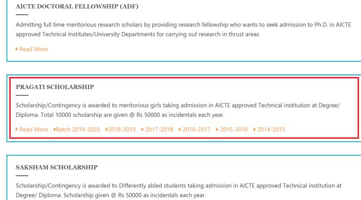 AICTE Pragati Scholarship List 2021