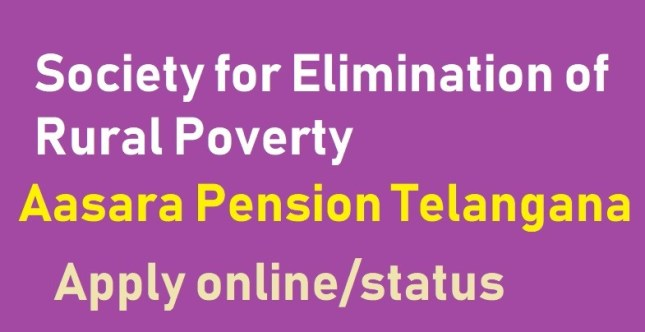TS Aasara Pension Form 2021 pdf