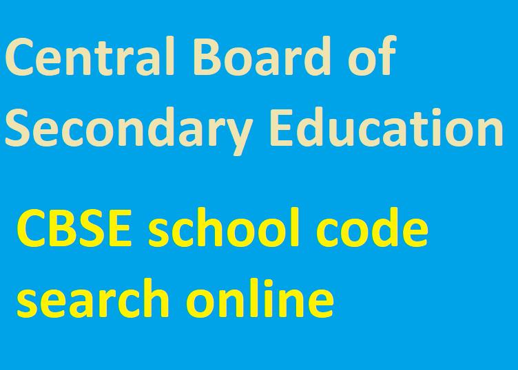 CBSE School code search