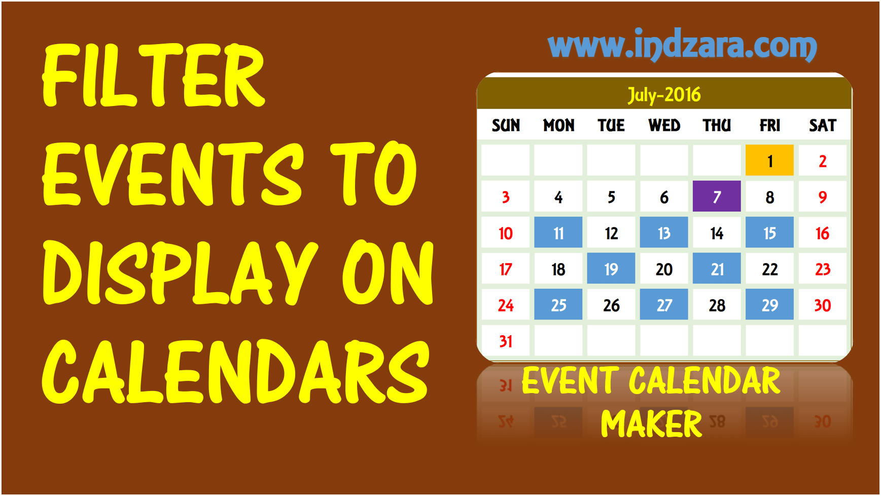 How To Filter Events To Display On Calendars Use A