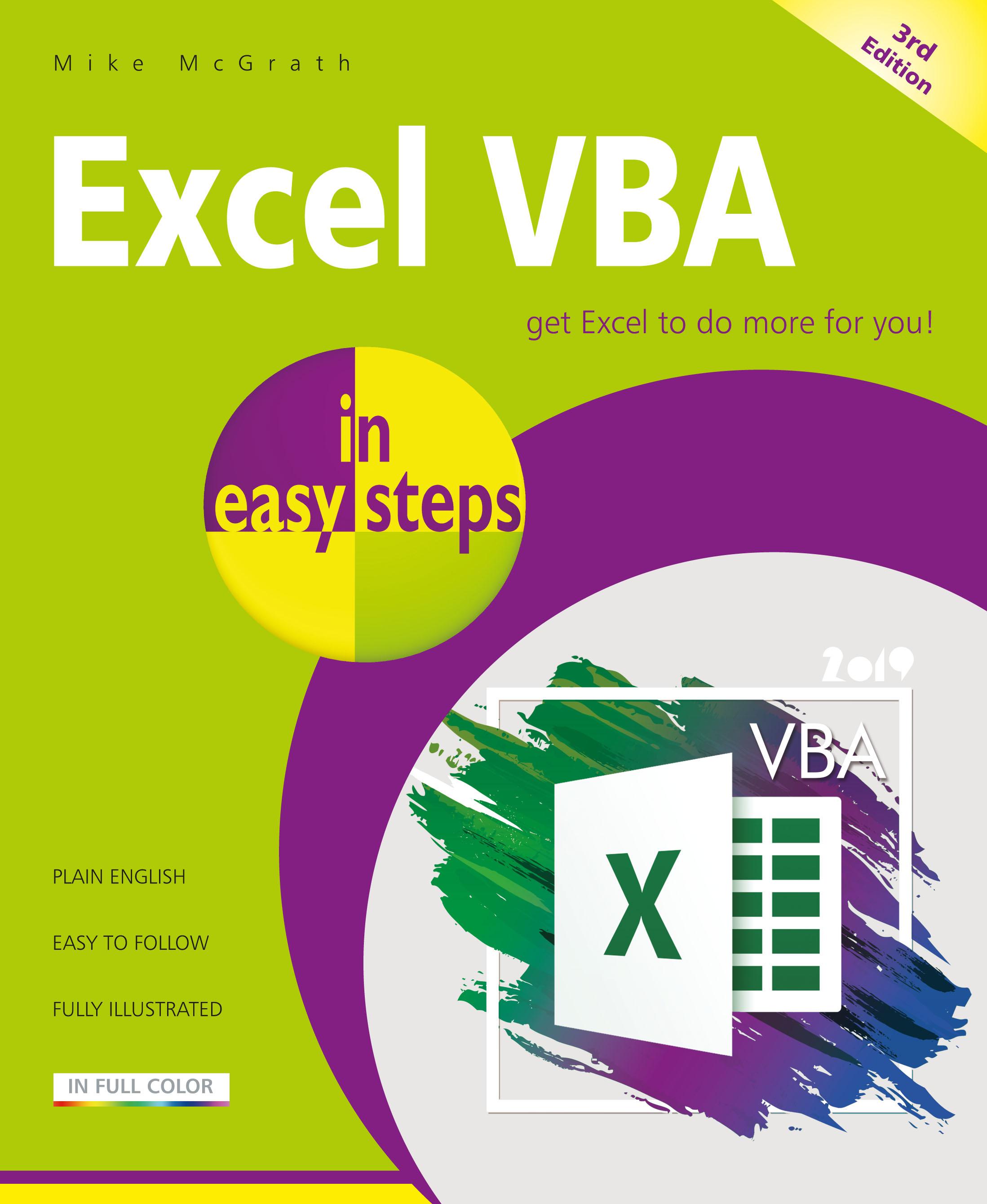 In Easy Steps New Release Excel Vba In Easy Steps 3rd