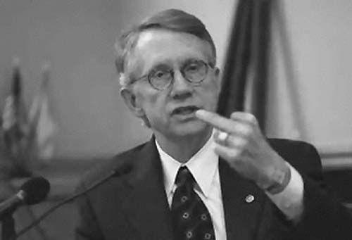 Happy and content Democrat leader Reid