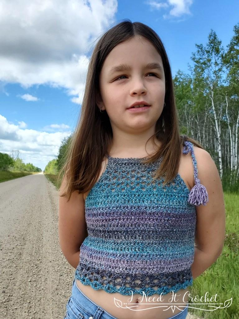 Tie Up Top - Free Children's Crochet Pattern