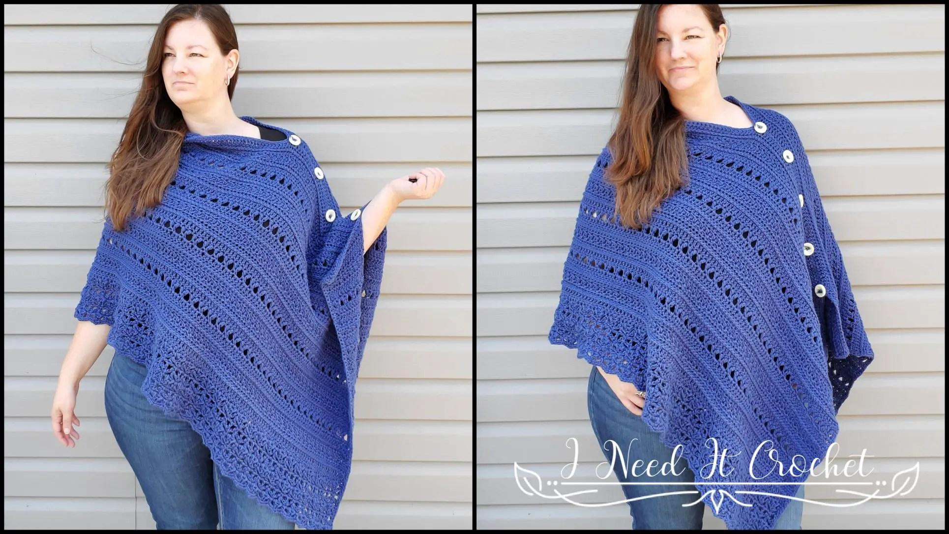 Transitions Poncho - Free Crochet Poncho Pattern