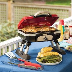 Cuisinart Petit Gourmet Portable Tabletop Gas Grill Cuisinart CGG-180T Petit Gourmet Portable Tabletop Gas Grill.