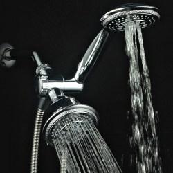 Hydroluxe Full-Chrome Ultra-Luxury Shower-Head Hydroluxe Full-Chrome 24 Function Ultra-Luxury 3-way 2 in 1 Shower-Head /Handheld-Shower Combo.
