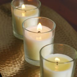 Set of 48 Unscented Glass Filled Votive Candles