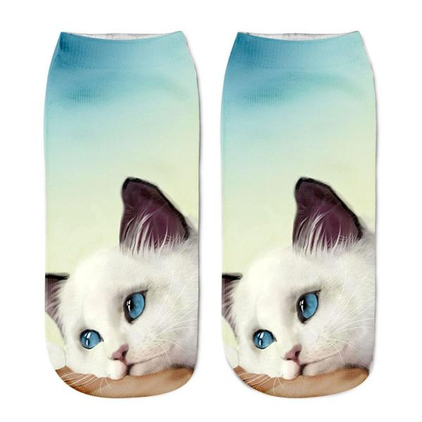 Funny Cute Cat Unicorn Emoji Ankle Socks Gift