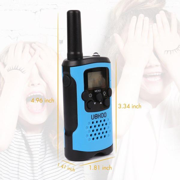Kids Walkie Talkies Gift or 7-year Old Boys and Girls Kids Walkie Talkies, UOKOO Walkie Talkies for Kids 22 Channel FRS/GMRS Two Way Radio Up to 3KM UHF Handheld Walkie Talkies, Toys for 5-year Old Boys, Gifts for 7-year Old Boys and Girls.