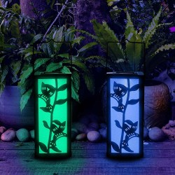 Solar Hanging Lantern Hummingbird Garden Decoration