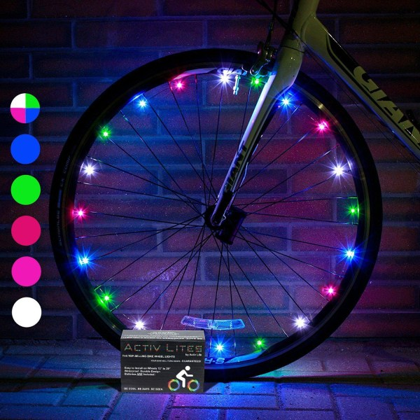 Super Cool LED Bike Wheel Lights  Super Cool LED Bike Wheel Lights with BATTERIES INCLUDED! Get 100% Brighter and Visible From All Angles for Ultimate Safety and Style from Activ Life (1 Tire pack)
