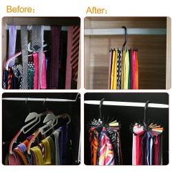 Twirl Tie Rack Belt Hanger Holder Hook