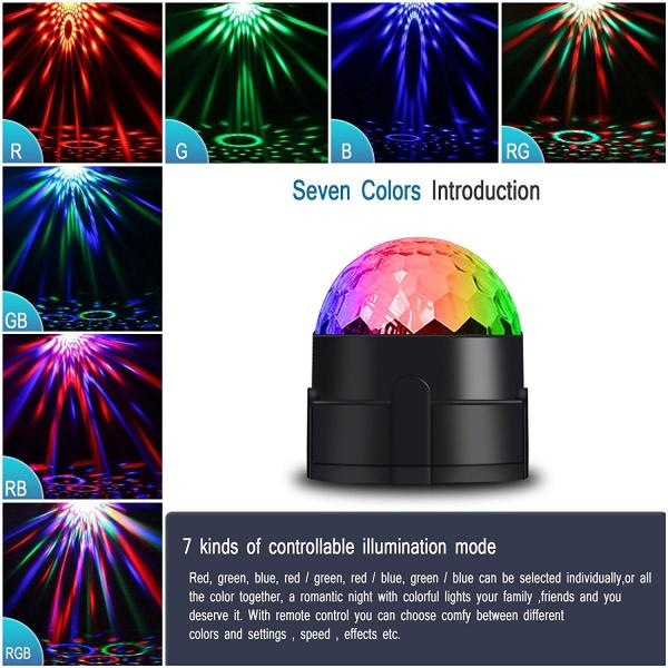 Vnina Disco Ball Dance Party Lights Vnina Disco Ball Dance Party Lights 3 W 7 Colors Mini Strobe Lighting Effects Gifts for Kids Birthday Decoration Karaoke Holiday House Celebration