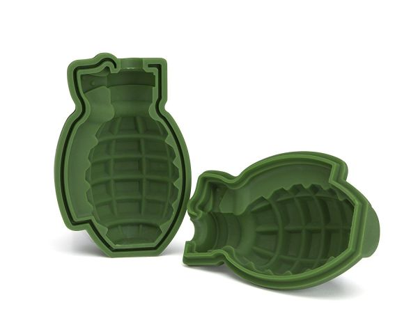 3D Grenade Ice Cube Mold, Silicone Ice Mold