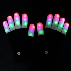 Amazer Finger Light Gloves Amazer Finger Light Gloves, Flashing LED Rave Gloves with Colorful Rave 7 Colors Light Show Best Idea Halloween Christmas Gift.