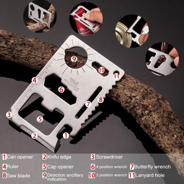 Emergency Survival Kit 10 in 1 - Outdoor Survival Gear -