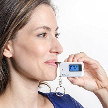 Portable Keyring Breath Alcohol Tester BACtrack Go Keychain Breathalyzer, Portable Keyring Breath Alcohol Tester, White.