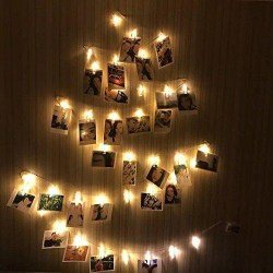 40 LED Photo Clips String Lights