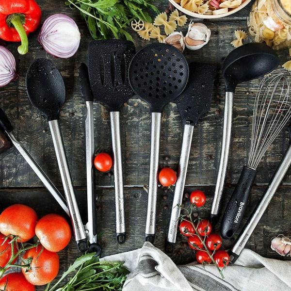 8 Piece Cooking Utensils - Nonstick Utensil Set