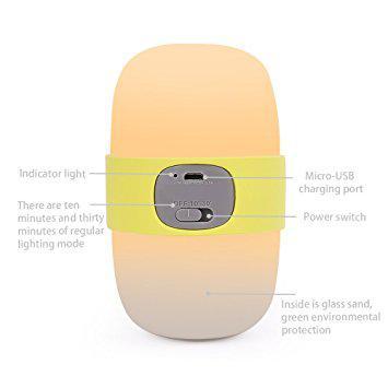 Baby Nursery Night Light Handheld Sleep Lamp with USB Charging