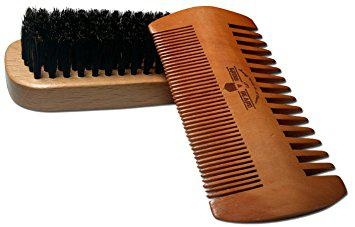 Beard Brush and Comb Set for Men