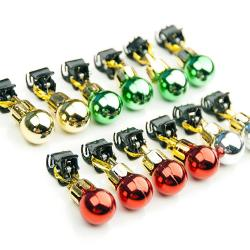 Beardaments Beard Ornaments Beardaments Beard Ornaments, 12pc Colorful Christmas Facial Hair Baubles for Men in the Holiday Spirit, Easy Attach Mini Mustache, Sideburns, Goatee Whisker Clips, Festive Red, Green, Gold, Silver Mix