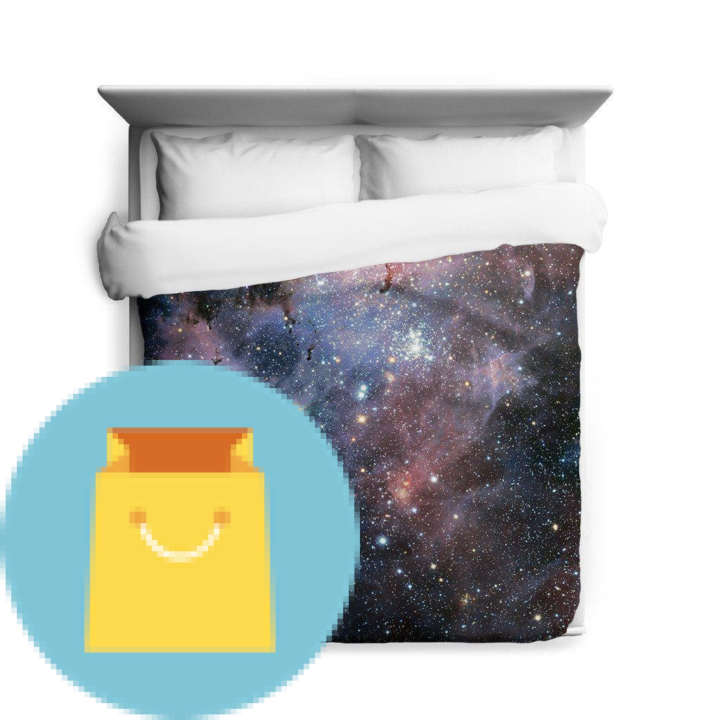 Carina Nebula Space Full Duvet Cover Galaxy Bedding from Outer Space with Stars Best Offer ...
