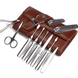 Manicure Set Nail Clipper Set of 10pcs With Leather Case
