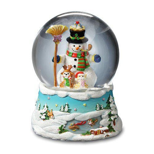 Music Box Gary Patterson Snowman Snow Globe