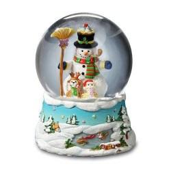Music Box Gary Patterson Snowman Snow Globe