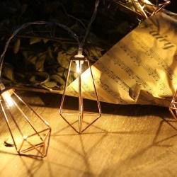 Rose Gold Geometric Boho LED Bedroom Fairy Lights
