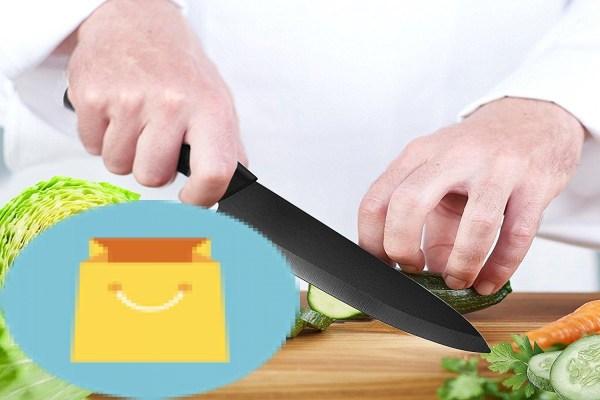 SHAN ZU Ceramic Knife 8'' Black Zirconium Blade