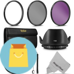 UV CPL FLD Professional Lens Filter Kit and Accessory Set for Nikon