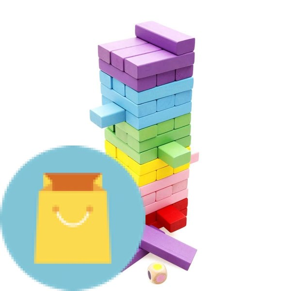 Wooden Stacking Board Games Building Blocks for Kids