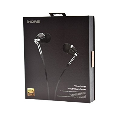 1MORE Triple Driver Earbuds with Apple iOS and Android Compatible