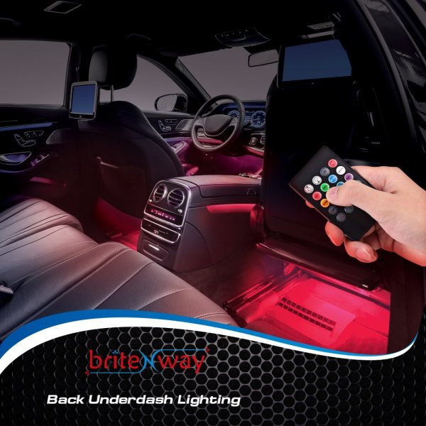 Car Interior Lights - 7 Colors and Multiple Patterns for Front & Back Underdash Car Interior Lights - 7 Colors and Multiple Patterns for Front & Back Underdash Decoration Lighting - 12v - Super Cool Music Rhythm & Sound Activation Function - Make Your Next Drive Fun & Exciting.