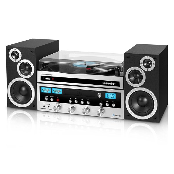 Classic Retro Bluetooth Stereo System with CD Player